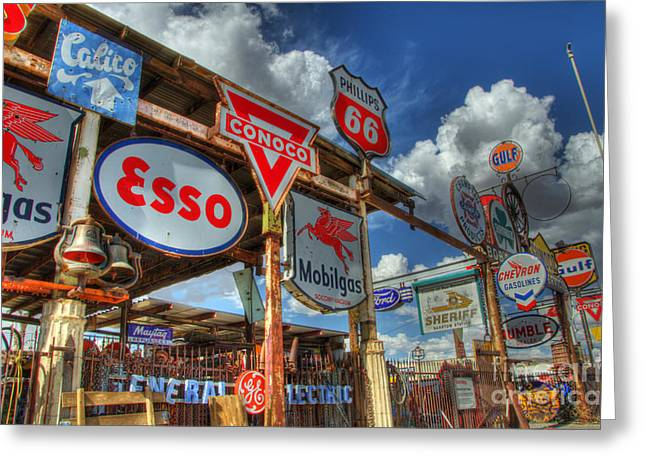 Fun Signs Greeting Cards - A Whole Lotta Signs Greeting Card by Bob Christopher