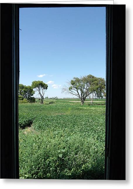 Lazy Days Of Summer Print Greeting Cards - A Window with a View Greeting Card by Brian  Maloney