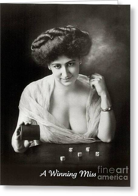 Loose Style Photographs Greeting Cards - A Winning Miss 1911 Greeting Card by Padre Art