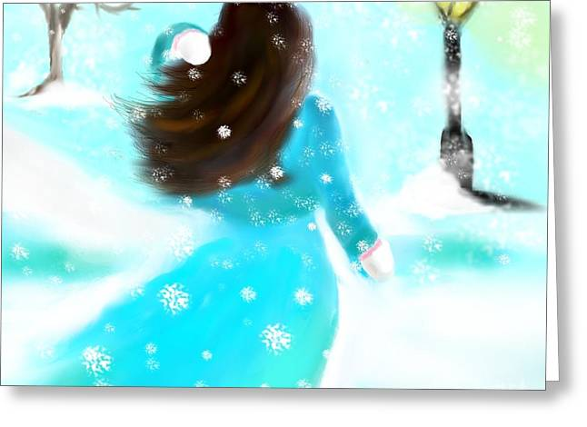 Breezy Greeting Cards - A Winter Day Greeting Card by Lori  Lovetere