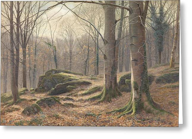 A Winter Morning Greeting Card by James Thomas Watts