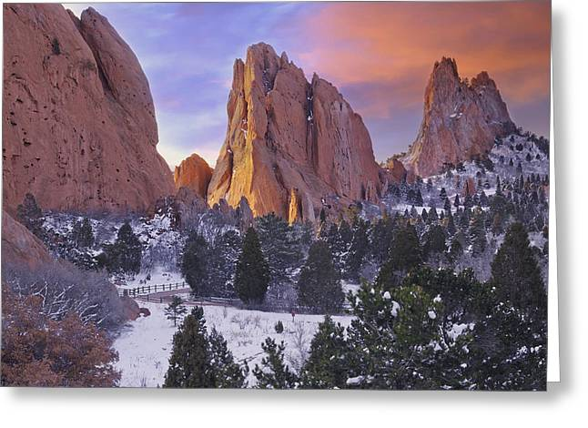 A Winter Morning Greeting Card by Tim Reaves