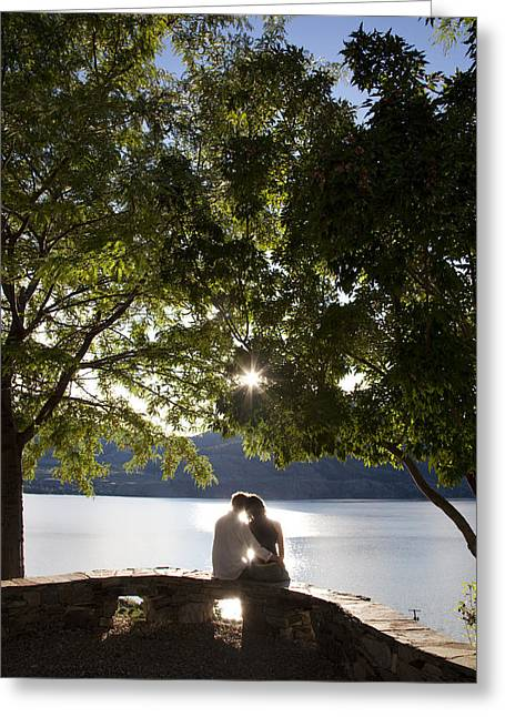 Penticton Greeting Cards - A Woman Enjoys The Afternoon Sun Greeting Card by Taylor S. Kennedy