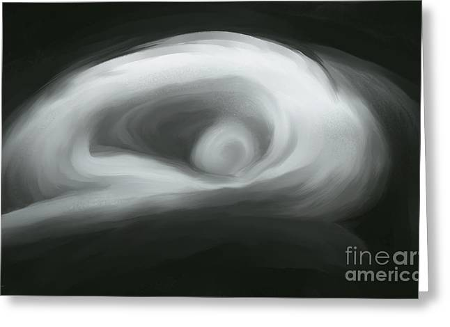 Female Body Greeting Cards - A Woman in Black and White Greeting Card by Jeff Breiman
