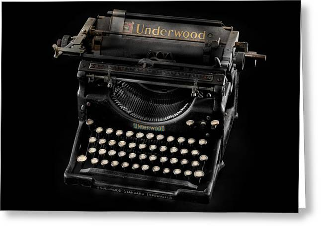 Typewriter Greeting Cards - A Writing Classic Greeting Card by Donald Schwartz