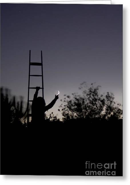 Step Ladder Greeting Cards - A Young Child Climbs A Set Of Stairs Greeting Card by Miguel Claro
