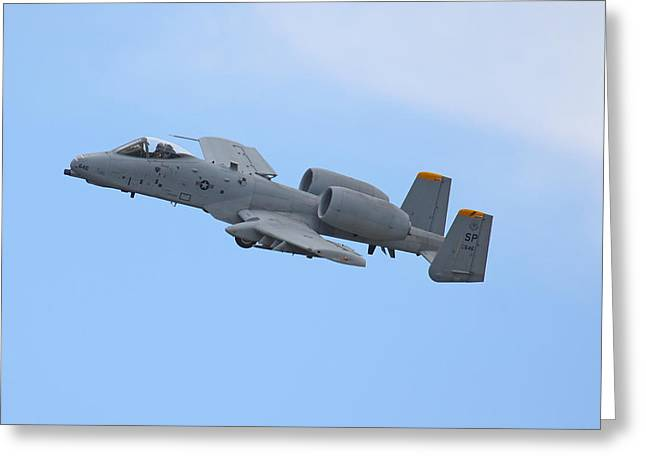 Iraq Conflict Greeting Cards - A10 Warthog Greeting Card by Ken Brannen