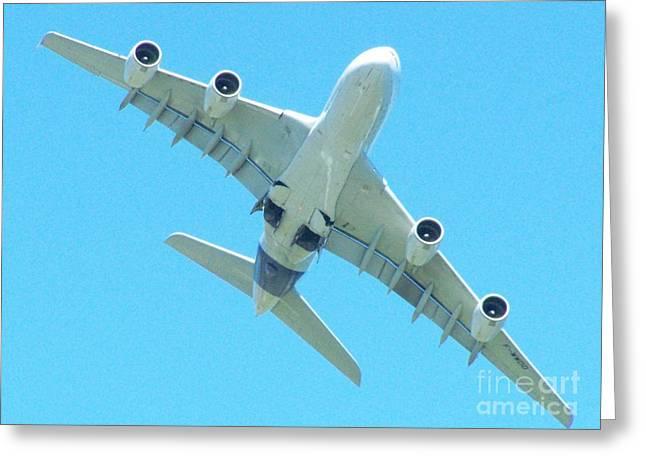 A380 Greeting Cards - A380 - Ile De La Reunion Greeting Card by Francoise Leandre