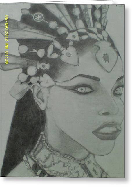 Human Beings Drawings Greeting Cards - Aaliyah Dana Haughton from Queen And Damn Movie Greeting Card by Cindy Newings