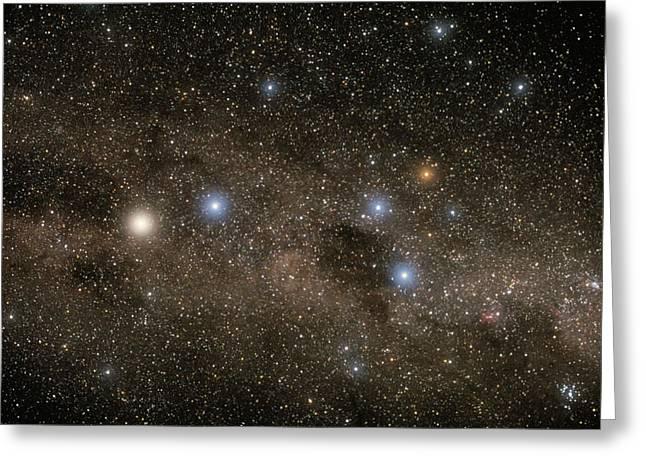 Ab Centauri Stars In The Southern Cross Greeting Card by Akira Fujii
