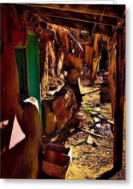 Adobe Greeting Cards - Abandoned Adobe Greeting Card by David Patterson