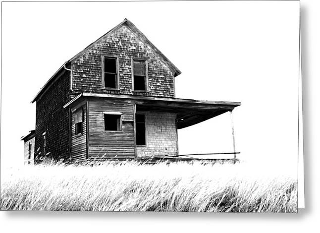 Abandoned Houses Greeting Cards - Abandoned and Alone 2 Greeting Card by Bob Christopher