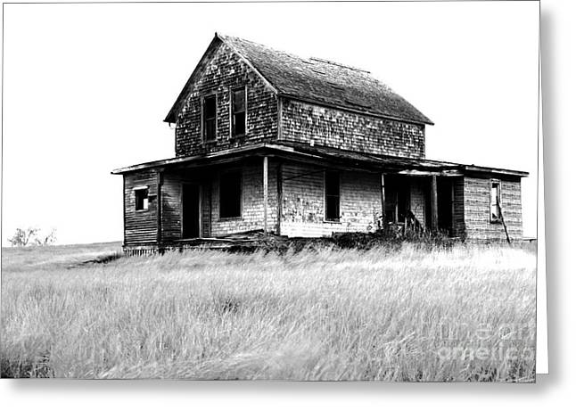 Abandoned Houses Greeting Cards - Abandoned And Alone Greeting Card by Bob Christopher