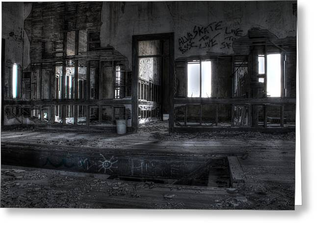 Apacheco Greeting Cards - Abandoned Greeting Card by Andrew Pacheco