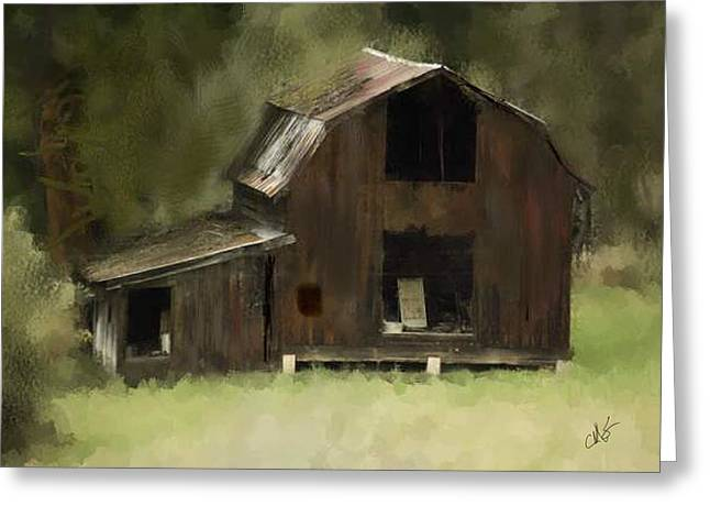 Drain Digital Art Greeting Cards - Abandoned Barn Greeting Card by Dale Stillman