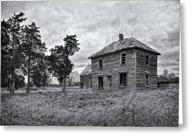 Abandoned Houses Greeting Cards - Abandoned Greeting Card by Brian Mollenkopf