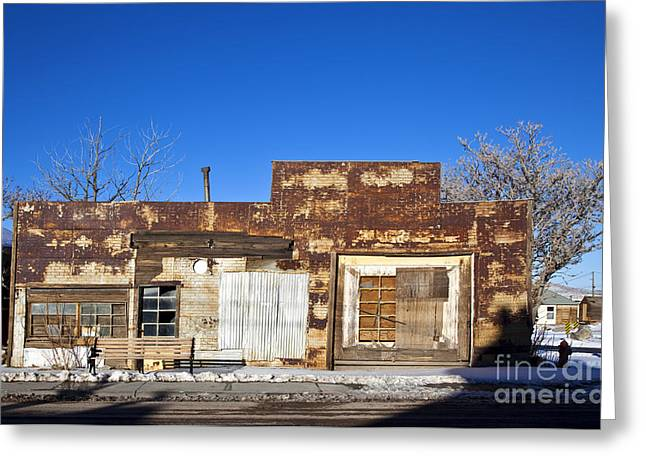 Downturn Greeting Cards - Abandoned Building Greeting Card by David Buffington