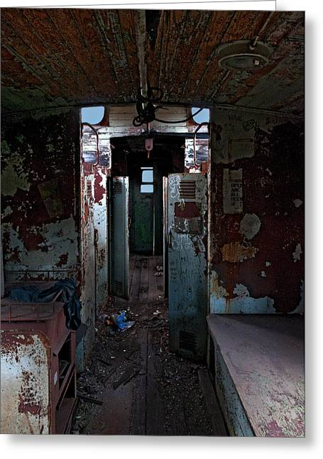 Caboose Photographs Greeting Cards - Abandoned Caboose Greeting Card by Murray Bloom