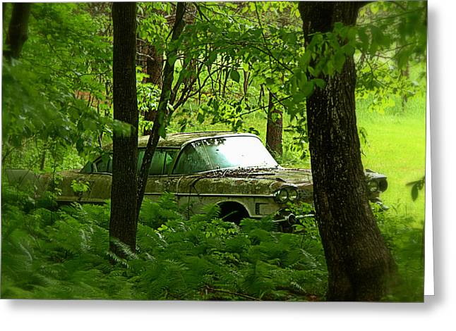 Fashion Photograph Greeting Cards - Abandoned Car - 2 Greeting Card by Tam Graff