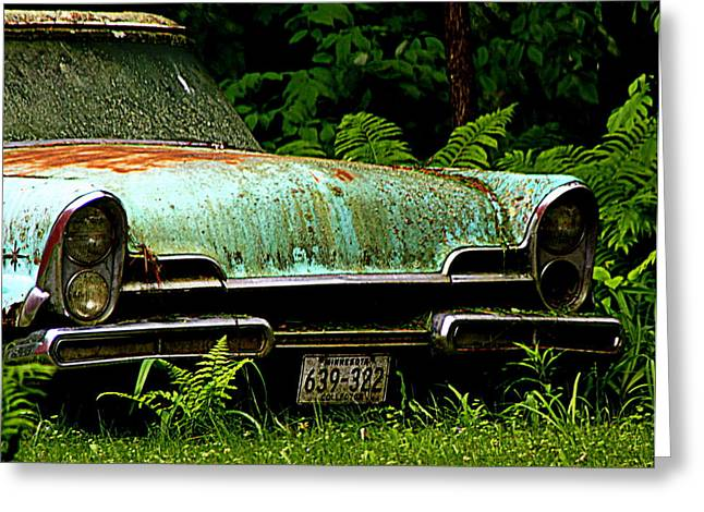 Fashion Photograph Greeting Cards - Abandoned Car - 4 Greeting Card by Tam Graff