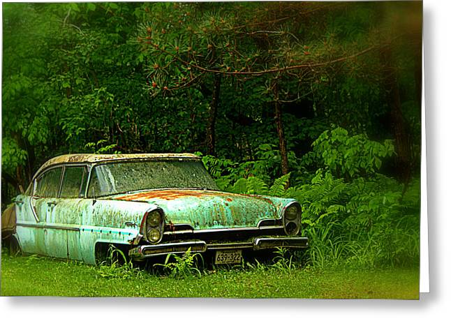 Fashion Photograph Greeting Cards - Abandoned Car - 5 Greeting Card by Tam Graff