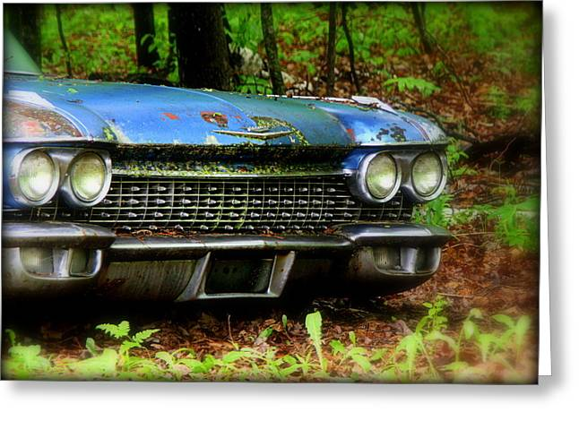 Fashion Photograph Greeting Cards - Abandoned Car - 6 Greeting Card by Tam Graff