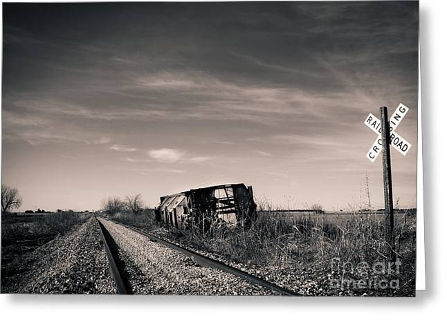 Old Caboose Greeting Cards - Abandoned  Greeting Card by Christina Klausen