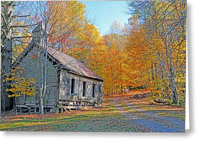 Historical Buildings Greeting Cards - Abandoned Church Greeting Card by Alan Lenk