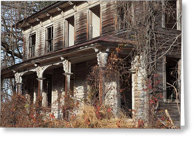 Abandoned Dilapidated Homestead Greeting Card by John Stephens