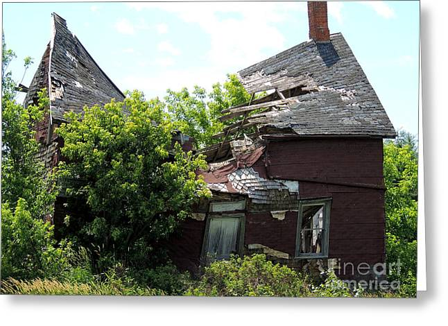 Farmhouse Greeting Cards - Abandoned Dream Greeting Card by Merv Scoble