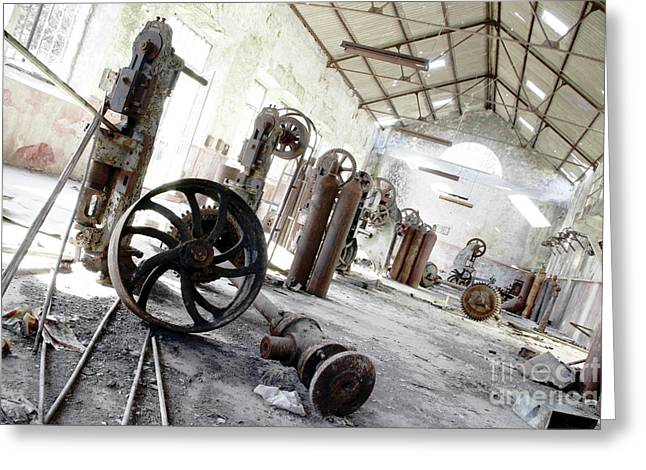 Abandoned Factory Greeting Card by Carlos Caetano