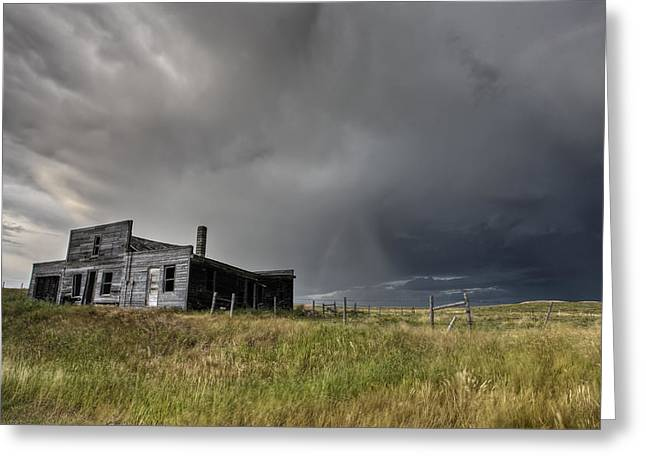 Abandoned Farmhouse Saskatchewan Canada Greeting Card by Mark Duffy
