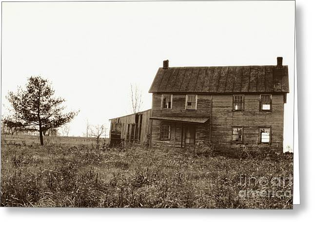 Unoccupied Greeting Cards - Abandoned Farmhouse Greeting Card by Susan Isakson