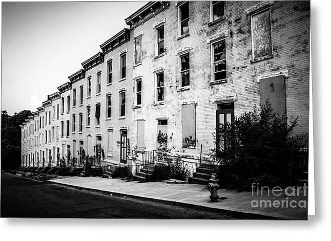 Abandoned Glencoe-auburn Buildings Cincinnati Ohio Greeting Card by Paul Velgos
