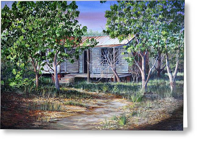 Tin Roof Greeting Cards - Abandoned House Greeting Card by AnnaJo Vahle