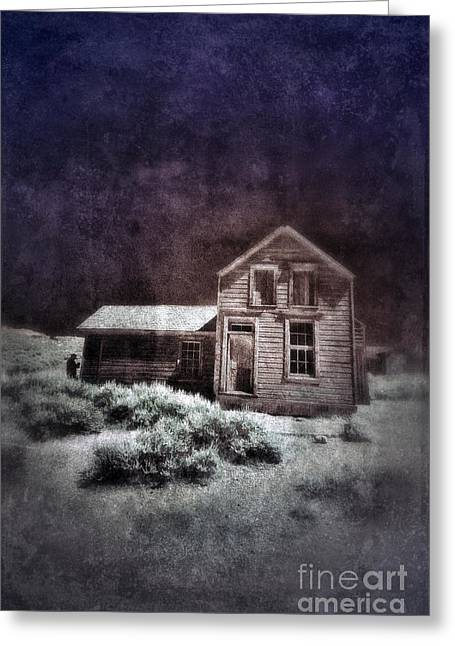 Shack Greeting Cards - Abandoned House in Infrared Greeting Card by Jill Battaglia
