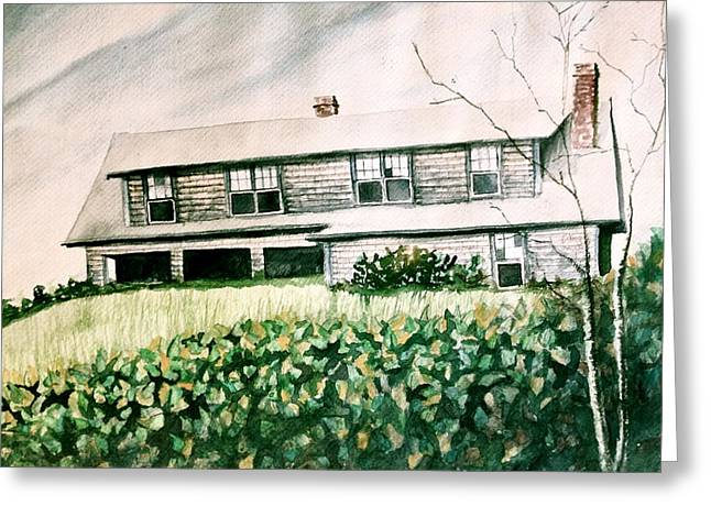 Mb Matthews Greeting Cards - Abandoned House Greeting Card by MB Matthews