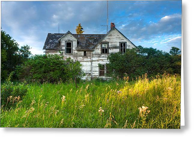 Historic Home Greeting Cards - Abandoned House on the Prairies Greeting Card by Matt Dobson