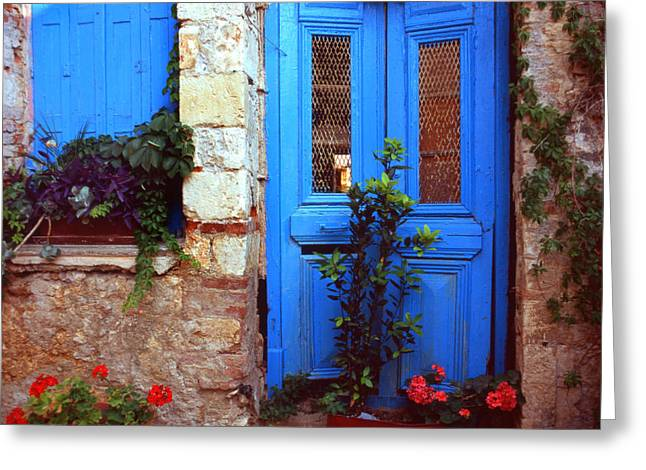 Greece Photographs Greeting Cards - Abandoned house Greeting Card by Paul Cowan