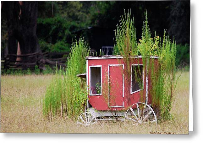 Horse-drawn Digital Art Greeting Cards - Abandoned in the Field Greeting Card by DigiArt Diaries by Vicky B Fuller