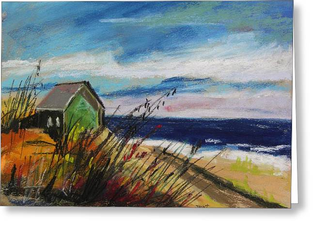 Shack Pastels Greeting Cards - Abandoned Greeting Card by John  Williams