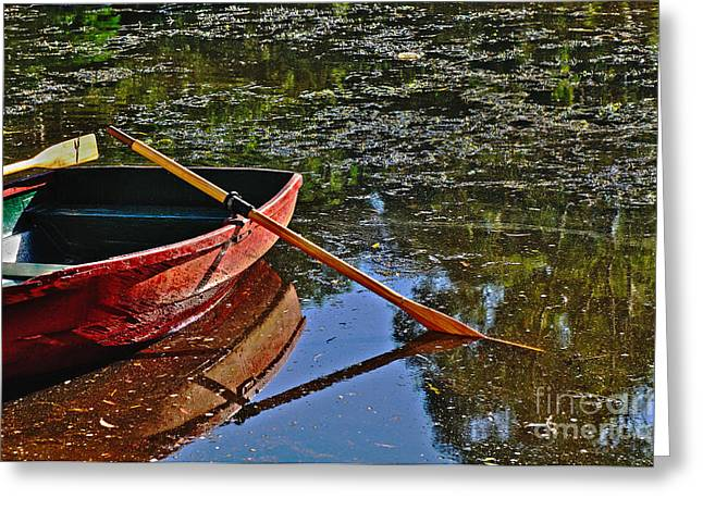 Row Boat Greeting Cards - Abandoned Greeting Card by Kaye Menner