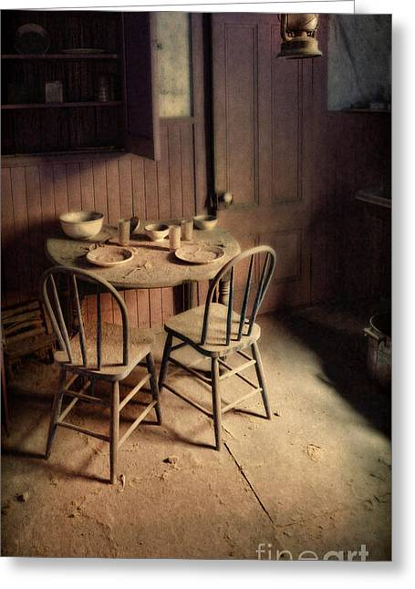 Run Down Greeting Cards - Abandoned Kitchen Greeting Card by Jill Battaglia