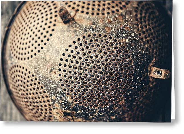 Colander Greeting Cards - Abandoned Greeting Card by Lisa Russo