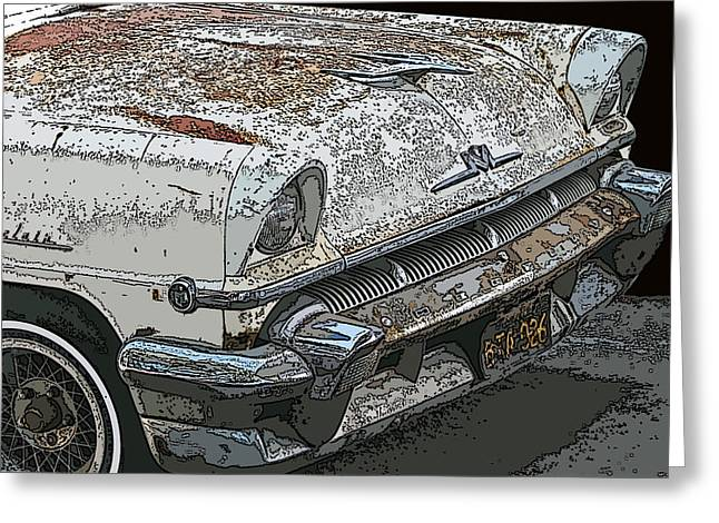 Samuel Sheats Greeting Cards - Abandoned Mercury Montclair Greeting Card by Samuel Sheats