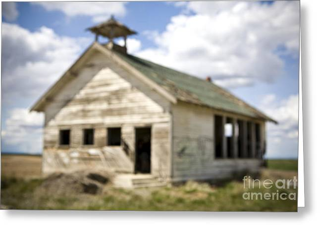 Abandoned School House. Greeting Cards - Abandoned Rural School House Greeting Card by Paul Edmondson