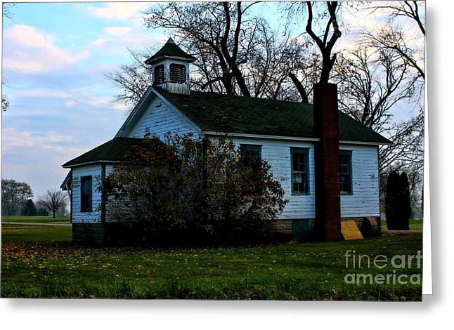 Abandoned School House. Greeting Cards - Abandoned School House Greeting Card by Tommy Anderson