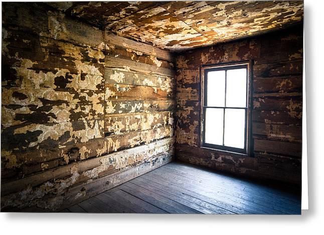 Abandoned Smoky Mountains Farm House - The Window Greeting Card by Dave Allen