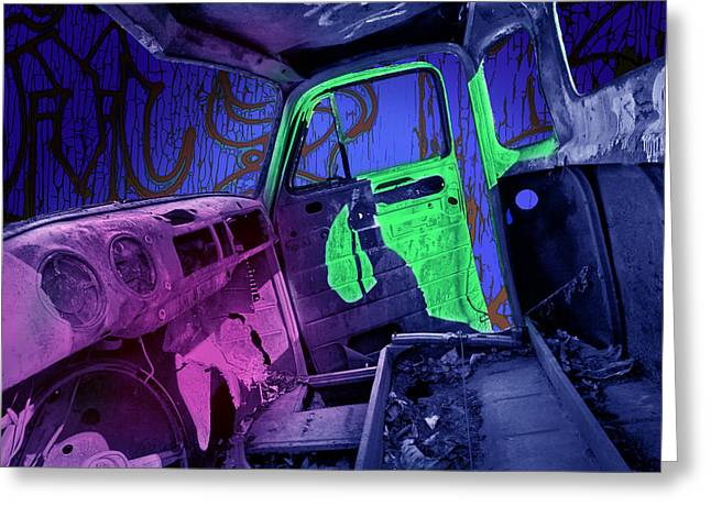 Dash-board Greeting Cards - Abandoned truck in Edmonton Alberta Greeting Card by Randall Nyhof