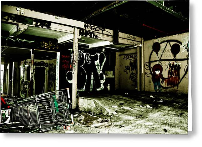 Aerosol Paintings Greeting Cards - Abandoned Greeting Card by Yurix Sardinelly